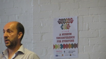 Mike Ellis, MC at the second Museumcamp