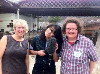Museumcamp smiles - Mar Dixon (L) and Linds Spurdle (R)