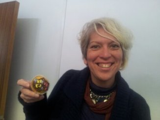 Mar Dixon and Museumcamp cupcake
